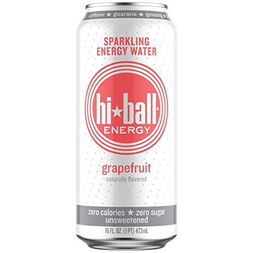 Hiball Energy Grapefruit Sparkling Energy Water, Zero Sugar and Zero Calorie Energy Drink, 16 Fluid Ounce Cans, 8 Count -