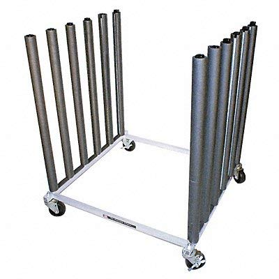 Mobile Bulk Rack Silver Steel