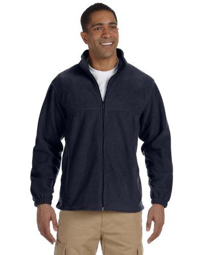 Harriton Mens Full-Zip Fleece (M990) -NAVY -M