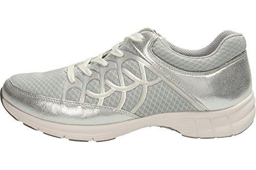 Señoras de la zapatilla de deporte del deporte Gabor 64.350.43 gris / hielo gray/ice/silber