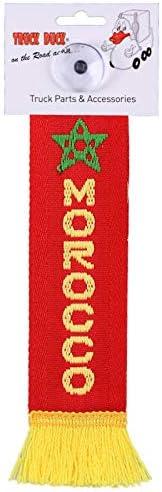 Marruecos Morocco Mini TRUCK DUCK/® Camiones Auto Mini Bander/ín Bandera ventosa Espejo Decoraci/ón