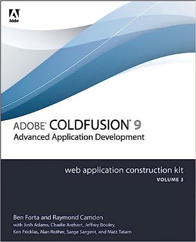 Adobe ColdFusion 9 Web Application Construction Kit Volume 3 Advanced Application Development
