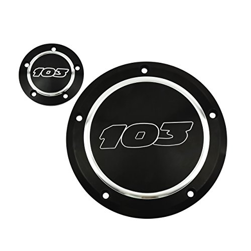 Motorcycle Derby Cover - YHMTIVTU Motorcycle 103 Derby Cover Timing Cover Timer Point Cover for Harley 99-up Dyna Softtail Touring,Black