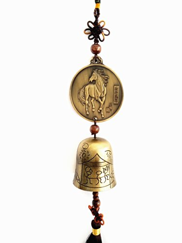 - Betterdecor Feng Shui Zodiac Victory Horse Bell Wind Chime Hanging for Wealth and Success (with a Gift Bag)