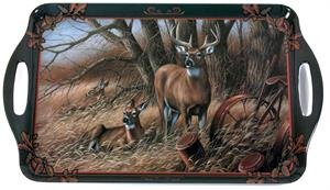 Deer Tray (Motorhead Products 11 by 18-Inch Melamine Serving Tray, Featuring Wild Wings Licensed Art with Deer by Rosemary Millette)