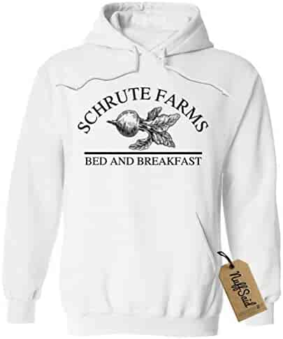 164eb70485c117 NuffSaid Schrute Farms Beets Bed and Breakfast Hooded Sweatshirt Sweater  Pullover - Unisex Hoodie