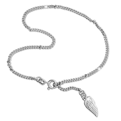 SilberDream anklet wing 925 Sterling Silver 9.8 inch SDF003 by SilberDream
