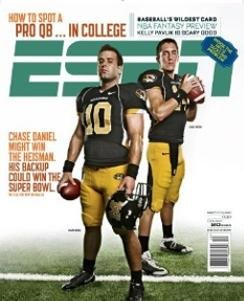 ESPN (October 20, 2008) Mizzou - Chase Daniel (How to spot a Pro QB in College; Baseball