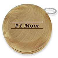 Dimension 9 1 Mom Classic Wood Yoyo with Laser Engraving