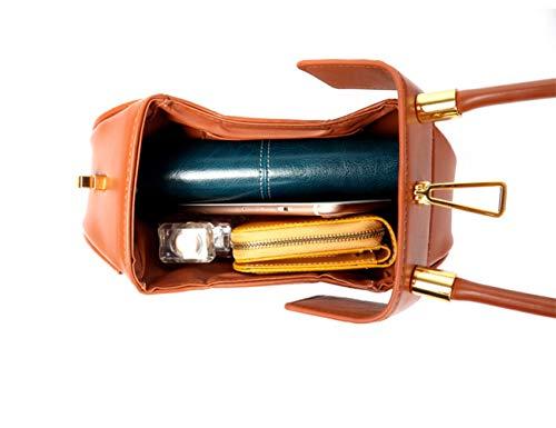 Womens Genuine Red Min handle Leahter Handbag Top Hobo 446frvq