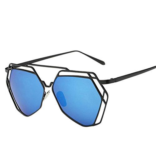 YAANCUN Mode Femme Polarisées De Metallique Lunette Verres Sunglasses Classique Chat Bleu De Soleil Vue Lunettes Oeil De 661Hqr