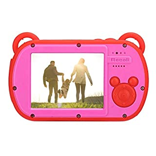 AMONIDA Kids Camera, Waterproof Action Child Cameras, ABS Waterproof Shell 2.7 Inch Screen Video Recording Children Digital Zoom Camera