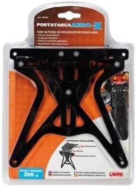 Compatible con KTM 990 Adventure ABS portamatr/ícula Regulable para Moto Lampa Aero-X 90146 Soporte Placa homologado Universal no espec/ífico Negro 270 x 190 x 35 mm