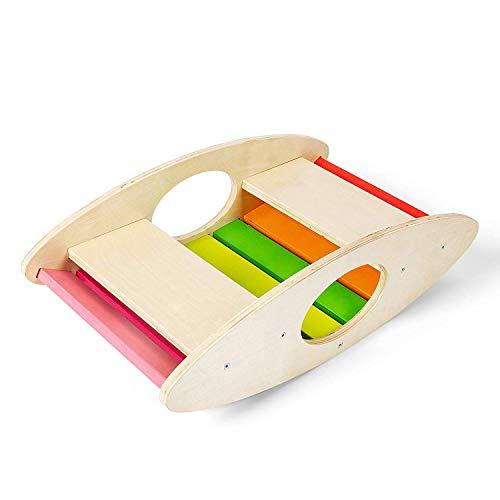 CASSARO Waldorf Balance Board Rocker (Rainbow) ()