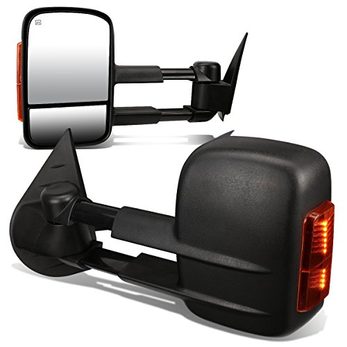 2011 Chevrolet Tahoe Z71 - DNA Motoring TWM-003-T888-BK-AM Pair of Towing Side Mirrors, Driver and Passenger Sides