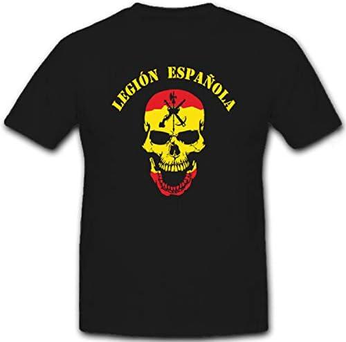 Legión Española España Legion Calavera Cráneo Logo Escudo España – Guerrero Camiseta # 6617: Amazon.es: Ropa y accesorios