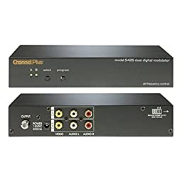 Digital Modulator Dual Source 2 Channel Video Audio RF Two Channel Push Button Signal Modulator CATV Channels 65 - 125 Off-Air DTV UHF Channels 14 - 64,