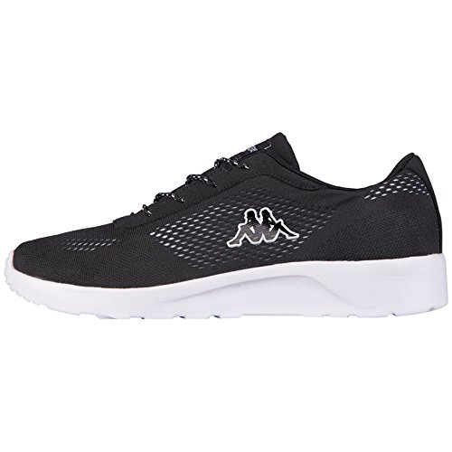 Kappa Schwarz Mesh Delhi Footwear 1110 Black Adulte Mixte Noir white Unisex Basses Baskets ACAqxrwz