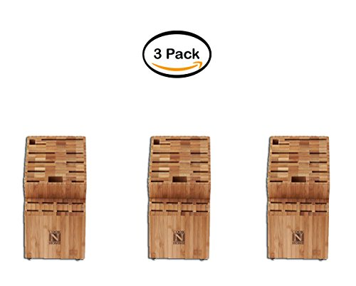 PACK OF 3 - Cook N Home 19-Slot Knife Block by Cook N Home