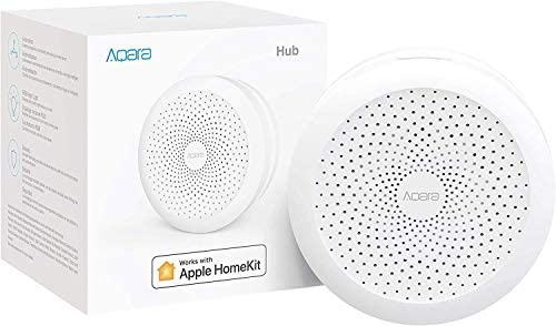 Aqara Motion Sensor plus Aqara Hub, Zigbee Connection, for Alarm System and Smart Home Automation, Broad Detection Range, Compatible with Apple HomeKit, Alexa 41t0aZuJj3L