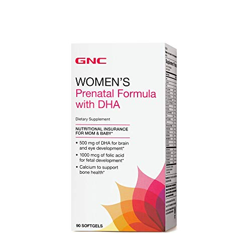 GNC Womens Prenatal Formula with DHA 90 softgels