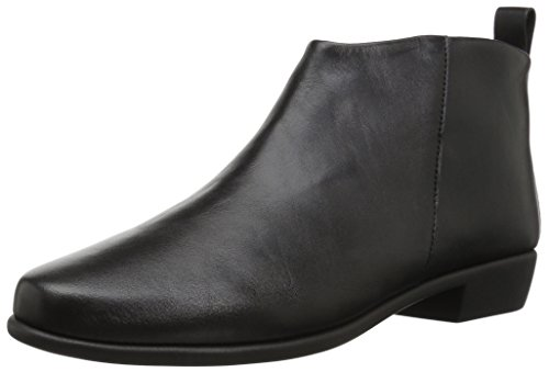 Aerosoles Women's Step It Up Boot, Black Leather, 6.5 M US