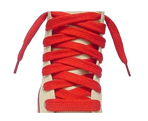 Flat Red 63 inch Shoe Laces