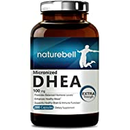 Pure DHEA (100mg Max Strength, 200 Capsules), Powerfully Supports Energy Level,
