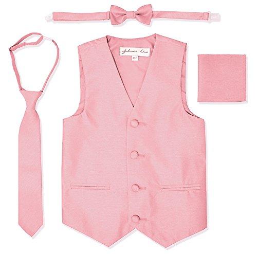 Johnnie Lene JL34 Boys Formal Tuxedo Vest Set (6/7, Pink)]()