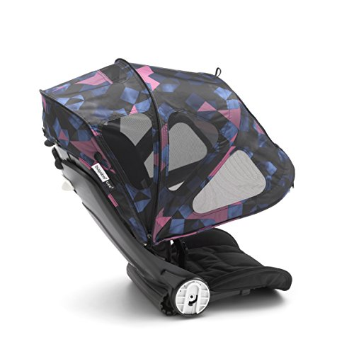 Breezy Canopy Sun Bugaboo (Bugaboo Bee Breezy Sun Canopy, Birds Print - Extendable Sun Canopy with UPF Sun Protection and Mesh Ventilation Panels)