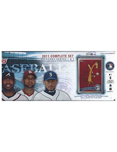 2011 Topps Baseball Factory Sealed Complete Set Series 1 and 2 With Exclusive Geoffrey Giraffe Chrome Card - Exclusive Giraffe
