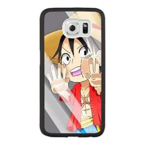 Generic Fashion Hard Back Case Cover Fit for Samsung Galaxy S6 Cell Phone Case black Japanese cartoon animation with Free Tempered Glass Screen Protector NUR-1724827