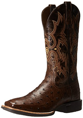 Ariat Men's Quantum Classic Western Cowboy Boot, Antique Tabaco Full-Quill, 10 D US