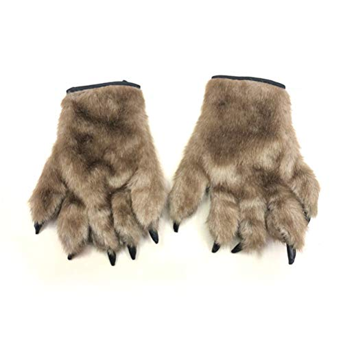 BESTOYARD Halloween Cosplay Gloves Bear Paw Claw Gloves Fancy Animal Costume Accessories 1 Pair by BESTOYARD