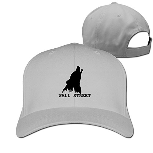 Men Women Wolf Of Wall Street Sport Snapback Peaked Hats Ash Unisex