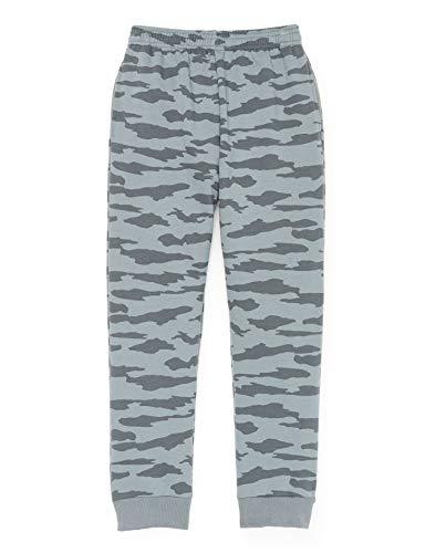 Hanes Boys Fleece Jogger Camo Sweatpants with Pockets  -Grey
