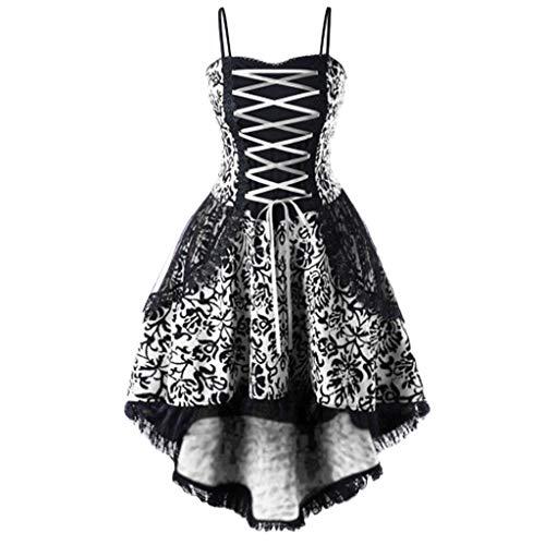 Women Vintage Dress Lace up Criss Cross Lace