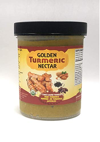 Golden Turmeric Nectar - Healthy, Anti-Inflammatory Paste Made from raw Organic Turmeric for Turmeric Lattes & Milk