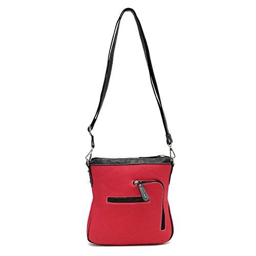 Crossbody American with Purses Gun Women Pocket Flag Concealed for Bag Western Carry Fuchsia fnxT1qwE