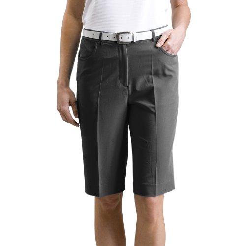 Monterey Club Ladies Stretchable Bermuda Shorts #2835 (Black, Size:8)
