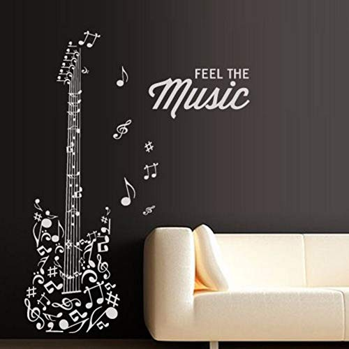 Pbldb 35X55Cm DIY Vinyl Fashion Music Wall Decal Guitar Notes Melody Electro Music Art Wall Sticker Music Room Home Decoration