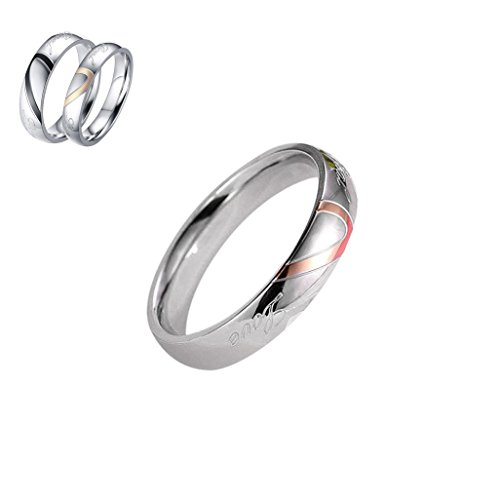 ILH® Clearance Couple Rings,ZYooh Fashion Love Heart Shape Anniversary Promise Wedding Band Engagement Ring (Women, 10)
