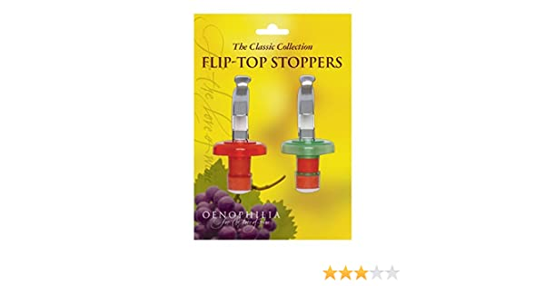 1 Each COMINHKR007609 OENOPHILIA Flip Top Bottle Stoppers