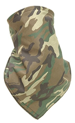 Fierce Face Protection Fleece Lined Bandana Brown Camo made in New England