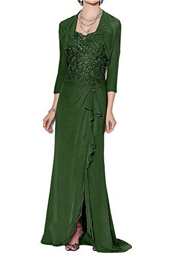 Dunkel Dunkel Braut mit Abendkleider Bolero Langes Marie Gruen Langarm Ballkleider La Glamour Rot Spitze Brautmutterkleider xZqgtwO5