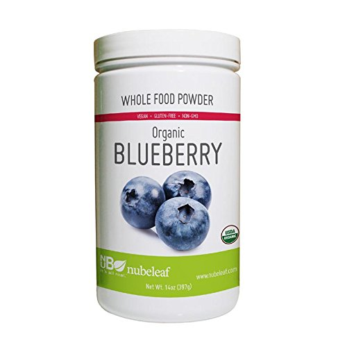 Nubeleaf Blueberry Powder - Non-GMO, Gluten-Free, Raw, Organic, Vegan Source of Essential Vitamins & Minerals - Single-Ingredient Nutrient Rich Superfood for Cooking, Baking, Smoothies (14oz)