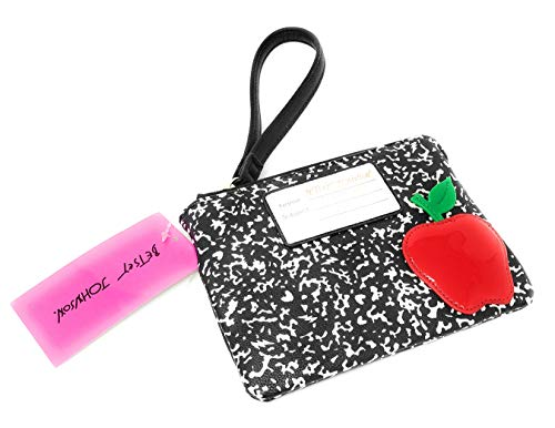 Betsey Johnson Fashion 101 Notebook with Apple Wristlet Pouch ()
