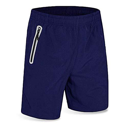 Men's Running Short Gym Workout Deep Side Reflective Zipper Pocket Quick Dry Beach Athletic Swim Short 7