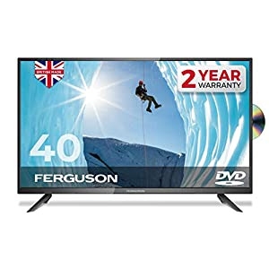 """Ferguson 40"""" inch Full HD LED TV With DVD player, Freeview HD, USB & 3 x HDMI – British Manufacturer – F4020F (New 2020…"""