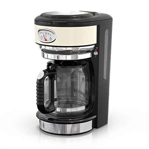 Russell Hobbs CM3100CRR Retro Style Coffeemaker, 8-Cup, - Cream Pot Coffee